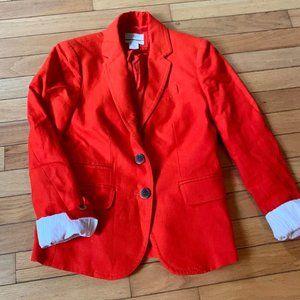 Linen SchoolBoy Blazer w/ Cotton detail sleeves-